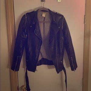 Ali Ro Leather bike jacket/vest detachable sleeves